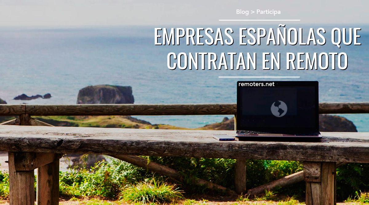 Empresas españolas que contratan en remoto