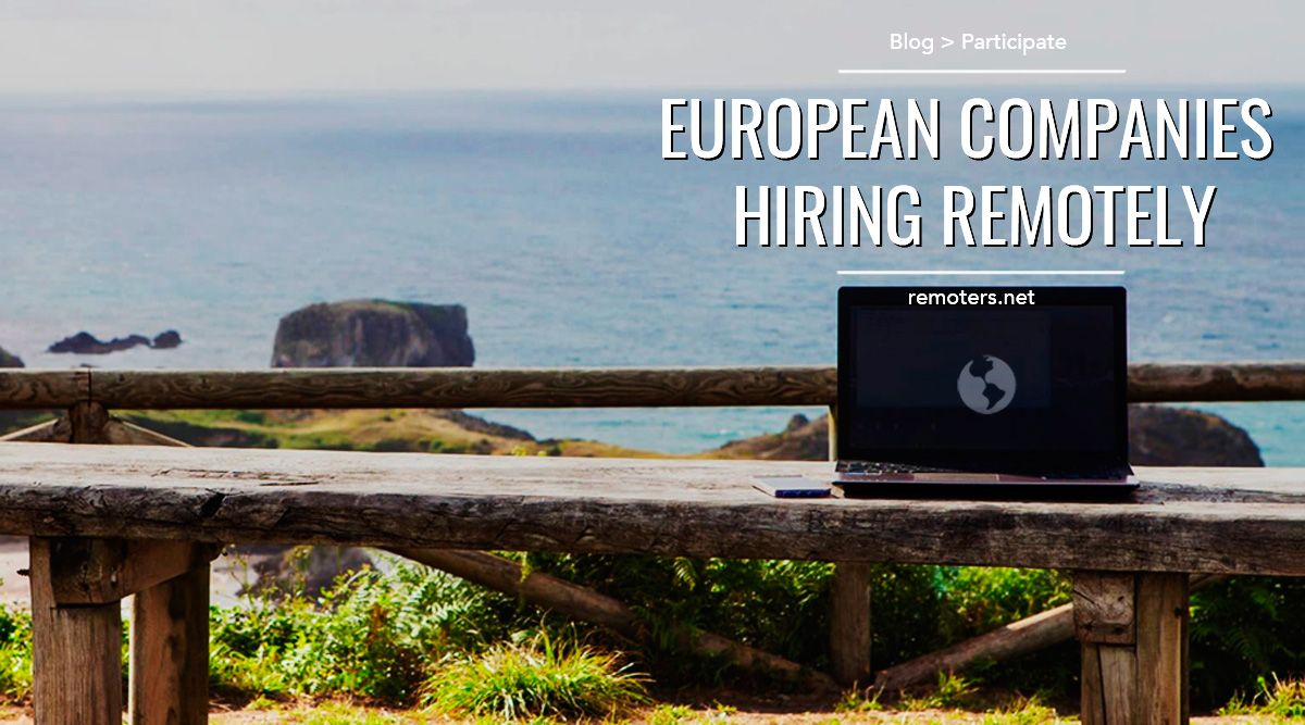 European Remote Based Companies Hiring Remotely