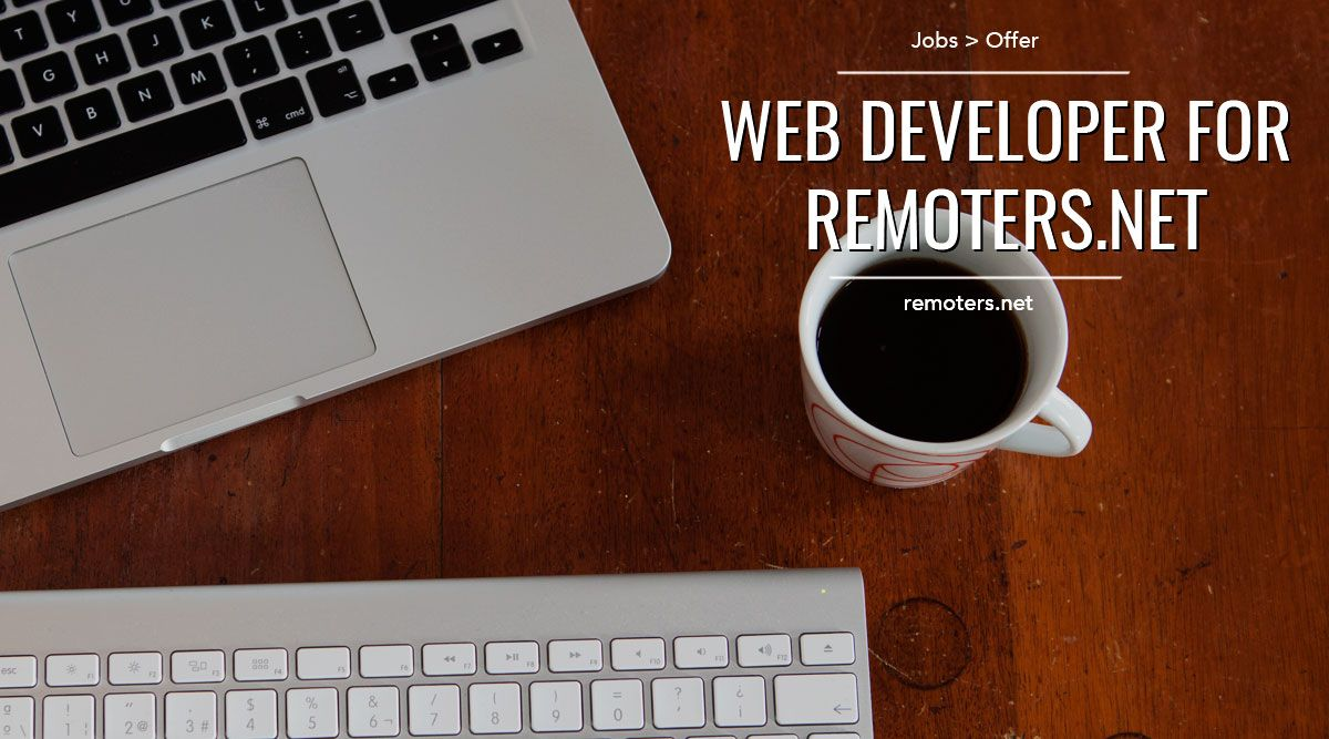 Web Developer for Remoters.net
