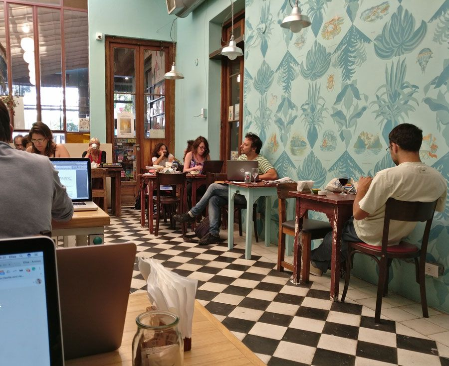 Working from a caffee