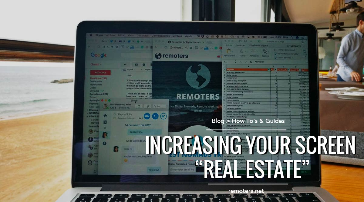 "Increasing Your Screen ""Real Estate"""