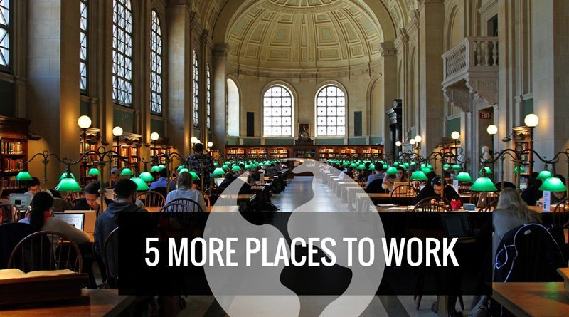 5 more places to work remotely as a Digital Nomad