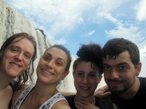 James, Elisa, Fanny y Xavier en Iguazú