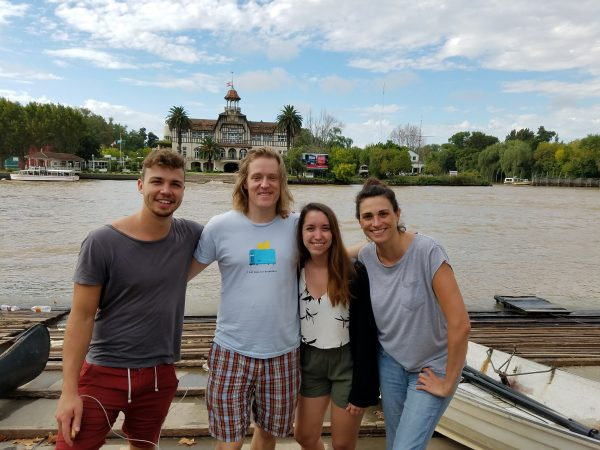 Diego, James, Sarah y yo. Foto de Muriel