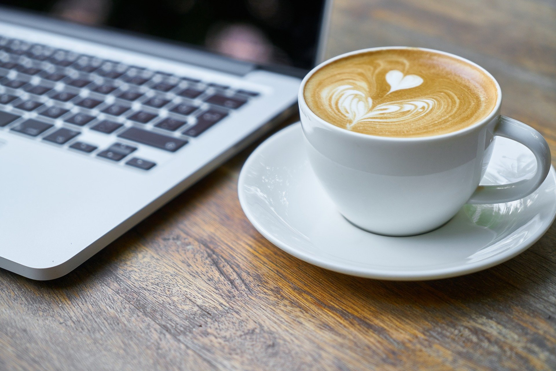 Cappucino and Laptop