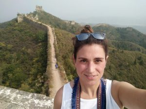 Elisa en la Muralla China