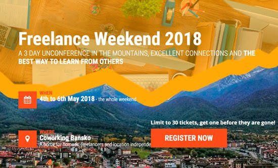 Freelance Weekend 2018 at Bansko, Bulgaria
