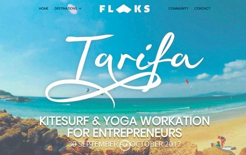 Flaks Tarifa Kitesurf & Yoga workation
