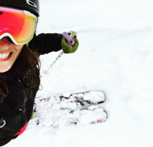 Stefanie Grieser skiing