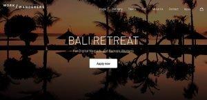 Bali Retreat Work Wanders