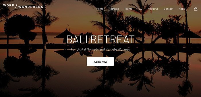 Work Wanderers Bali Retreat