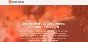 Reconciled Entrepreneur Summit