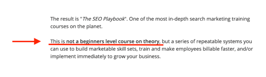 SEO Playbook Course Example