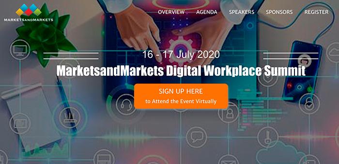 MarketsandMarkets Digital Workplace Summit 2020