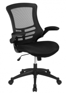 flash furniture mid back black mesh