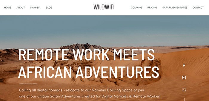 WildWifi Coliving Namibia Retreat 2021